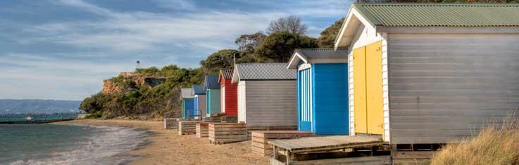 Sorrento Beach Motel beach-boxes