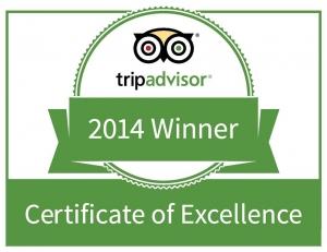 Sorrento Beach Motel Trip Advisor 2014 Certificate of Excellence Winner
